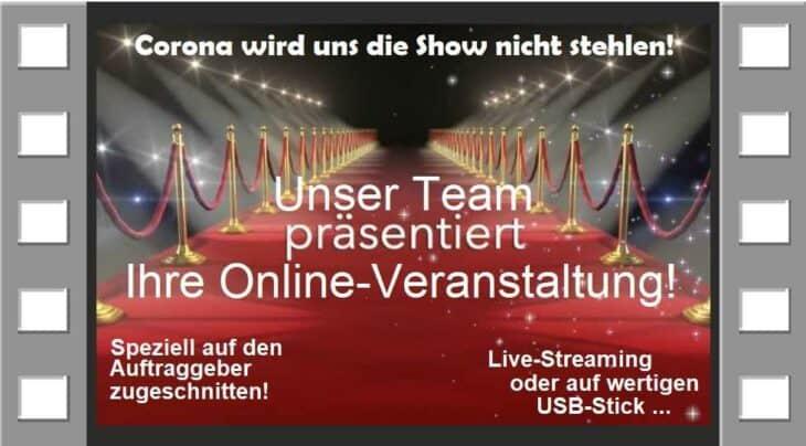 online-Veranstaltung-show buchen